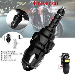 Black Aluminum Motorcycle ATV Frame Engine Protector Ground Crash Slider Cap Kit