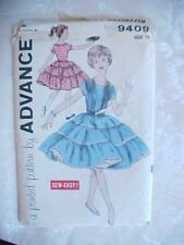 Vintage Sewing Pattern Girls Tiered Square Dancing Dress 1950 Advance 9409 Sz 10