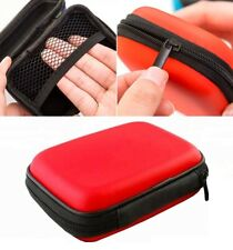PU Leather Digital Camera Zip Case Cover Hard Pouch Bag For Sony DSC-W800 -RED