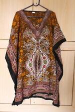 Women'S Short Casual Kaftan Tunic Top Maxi Gown Kimono Sleeve Poncho L 1X 2X 3X