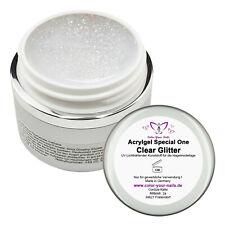 15g Special One Acrylgel Clear Glitter, WIE UV GEL ZU VERARBEITEN ! Ohne Slide
