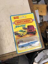 Matchbox #5 Superfast Seafire boat 1975 Lesney on Blister Card