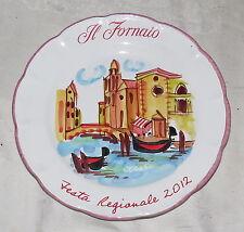 """Il Fornaio Festa Regionale 10"""" Plate Venice Venezia 2012"""