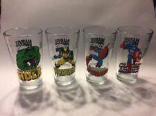 2011 MARVEL COMICS HULK, SPIDERMAN, CAPT AMERICAN , WOLVERINE GLASSES