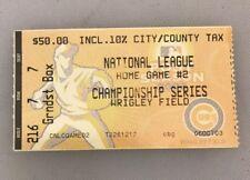 2003 NLCS Game 2 Ticket Stub Chicago Cubs vs Florida Marlins October 8 2003