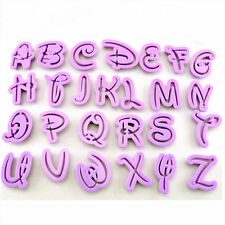 """26pcs Disney Capital Alphabet Font Letter Cookie Cutters Fondant Uppercase 1.5"""""""