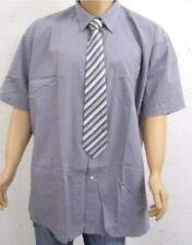 Camicie casual e maglie da uomo grigie in misto cotone