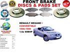 FOR RENAULT MEGANE I 1.6e CONVERTIBLE 96-99 FRONT BRAKE DISC SET + brake PAD KIT