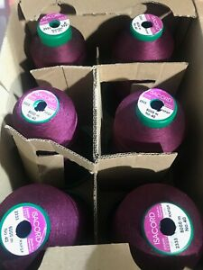 ISACORD EMBROIDERY THREADS 1/2 PRICE NEW/USED BOX OF 6 5000M VARIOUS COLOURS 7