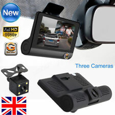 4'' Dual Lens HD 1080P Car DVR Rearview Video Dash Cam Recorder Camera G-sensor