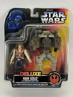 Kenner Star Wars Deluxe Han Solo Smuggler Flight Action Figure - Blaster Cannons