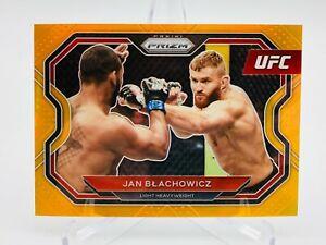 2021 Panini UFC Prizm Jan Blachowicz ORANGE Prizm Card 35/99 Debut Edition