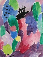 ALEXEJ VON JAWLENSKY RUSSIAN RED PATH ST PREX OLD ART PAINTING POSTER BB4793A