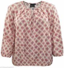 Locker sitzende taillenlange gepunktete Damenblusen, - tops & -shirts