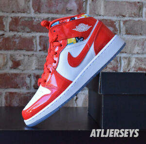 Nike Air Jordan 1 Mid SE GS Barcelona Geometric Red DC7248-600