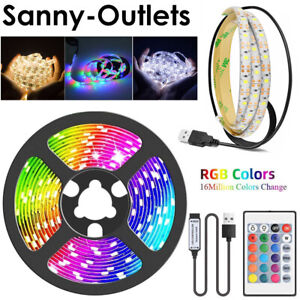 1m-5m LED Strip Light USB RGB 2835 Flexible Tape Ribbon Lamp TV Screen Backlight