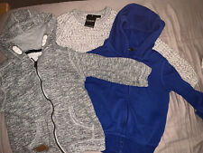 George Boys Hoodie Knitted Jumper Tops Bundle 3-4 Grey Blue
