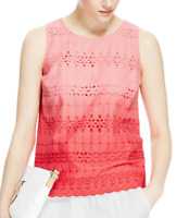 BNWT M&S Pure Cotton Ombre Broderie Sleeveless Top RRP £25 Just £5 End of Line