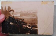 ca.1909 Los Angeles, Calif. MAN & Antique AUTOMOBILE / CAR in Photo Studio RPPC