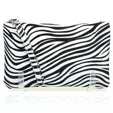 CHEEKY Zebra Print Clutch Bag/Purse With Wrist Strap