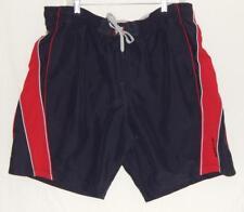 SPEEDO Men's Navy Blue Red Polyester Swim Trunks Shorts Size Large