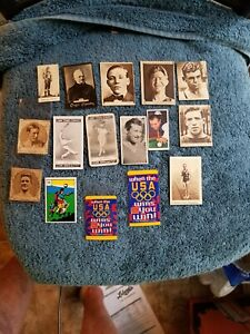 VINTAGE BOXING-MULTI SPORT TREASURE CHEST LOT (16) TOBACCO CARDS