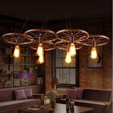 Large Chandelier Lobby Vintage Ceiling Lights Kitchen Bar Brown Pendant Lighting