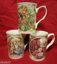 3 oiseaux britannique porcelaine fine tasse cups béchers