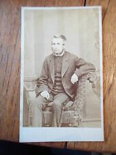 Antique CDV Photograph NAMED: UNCLE GIBSON By John Gibson Castle Ln. Belfast