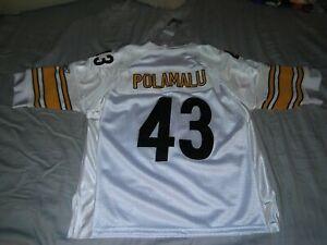 """Pittsburgh Steelers """"Troy Polumalu #43"""" Reebok Throwback Jersey (S)* On-Field*"""