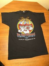 Vtg YES In The Round CONCERT T SHIRT Tour Of The Americas 1979 50/50 Thin L USA
