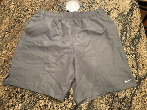 NIKE Platinum Gray Athletic Shorts Swim Trunks Size XL NWT NEW Mens