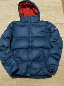 TOMMY JEANS DOWN PUFFER HOODED MEN'S JACKET SIZE S VERY GOOD CONDITION