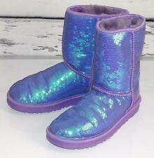 UGG~$198.00~PURPLE *EVA* SPARKLE SEQUINS~SHEEPSKIN~SHORT BOOTS~8 (RARE)