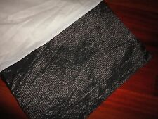 """CROSCILL VERY BLACK RIBBED SHIMMER FULL BEDSKIRT 14"""" SPLIT CORNER"""
