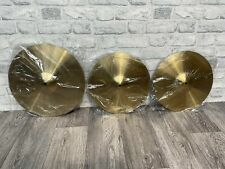 More details for beginners drum cymbals set x3 hardware / accessories (brand new)