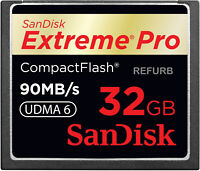 SanDisk ExtremePro 32GB CF memory card SDCFXP-032G Extreme Pro 32 GB 90MB/s 6