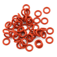 50 Pcs Red Silicone O Ring Seal Washers 10mm x 6mm x 2mm US