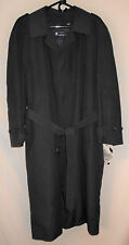 Trench Coat NEW Mens 40R AMR Blue Thinsulate Quilted Liner Teflon Overcoat 7T4