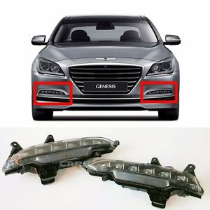 Hyundai 15-16 Genesis Sedan LED Fog Light DRL RH ,LH + Connector  DHL delivery