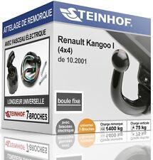 ATTELAGE fixe RENAULT KANGOO I 4x4 de 2001 + FAISC.UNIV.7 broches COMPLET