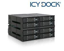 "New ICY Dock MB508SP-B 8 Bay 2.5"" SATA SAS SSD HDD Rugged Full Metal Mobile Rack"