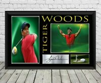 Tiger Woods Signed Photo Print Autographed Poster Golf Memorabilia