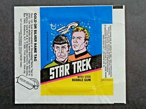 1976 TOPPS *STAR TREK: CAPTAIN'S LOG*  WAX WRAPPER (Name tag ad)