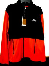 MENS XLARGE THE NORTH FACE RED BLK TKA GLACIER FULL ZIP FLEECE JACKET NEW #19772