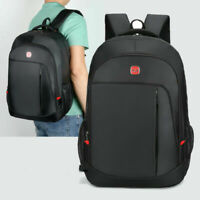 Mens Large Waterproof Travel Bag Black School Backpack Laptop Bag BL