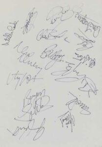 Blackpool FC - Signed Team Sheet - COA (14922)