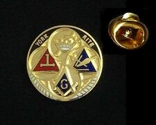 Top Quality Masonic York Rite Square & Compass Freemason Lapel Pin hat