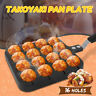 16 Holes Takoyaki Pan Plate Tray Kitchen DIY Cook Baking Mold Octopus Ball Maker