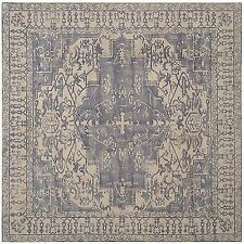 Safavieh Handmade Restoration Vintage Oriental Blue/ Grey Wool Rug - 6' x 6'